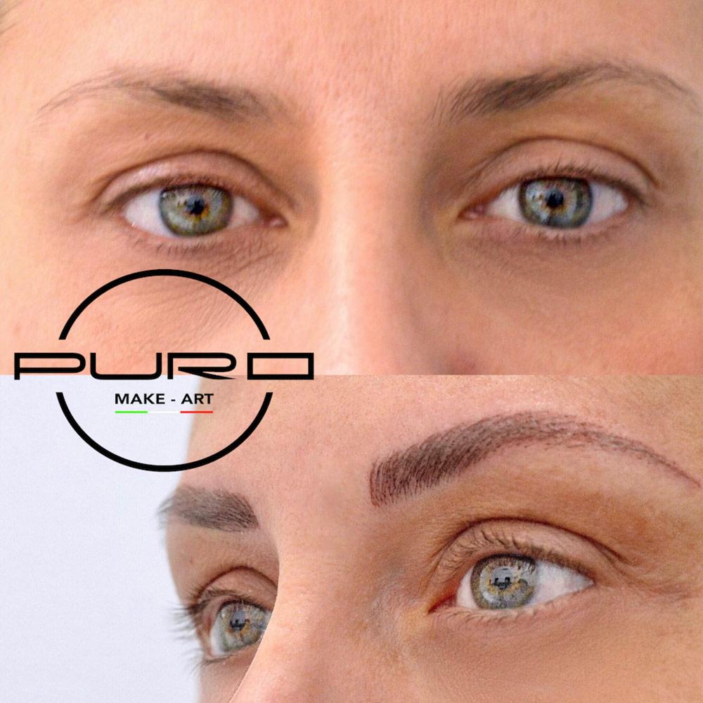 trucco permanente sopracciglia occhi chiari